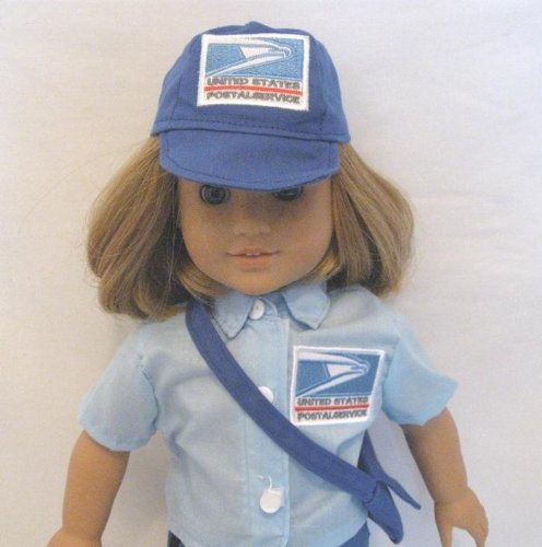 Amazon us mail postal office worker post man woman outfit amazon us mail postal office worker post man woman outfit uniform costume pant set doll clothes for 18 inch dolls fits american girl toys games sciox Choice Image