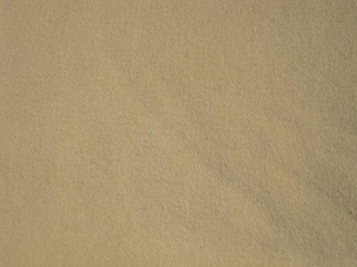 Beige Cotton Interlock Knit Fabric By the Yard - 1 Side Brush
