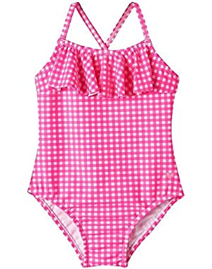 Pink Gingham Swimsuit 12 Months
