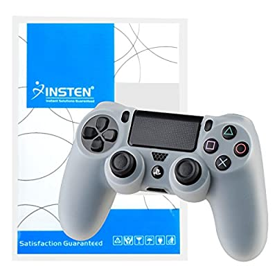 Pythons Soft Silicone Skin Case Compatible With Playstation4 PS4 Controller- Clear White by Pythons