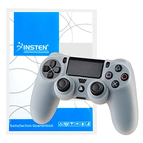 Lowpricenice Pythons Soft Silicone Skin Case Compatible With Playstation4 PS4 Controller- Clear White