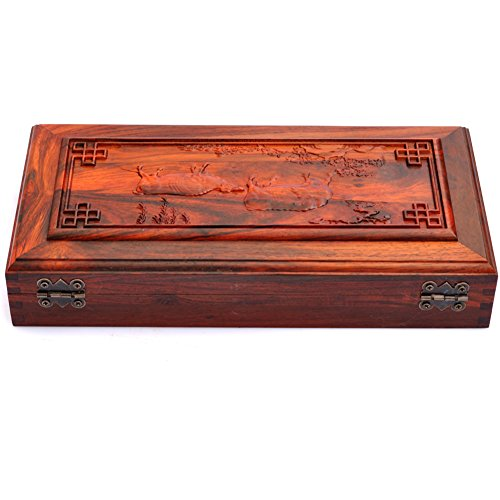 bracelet Bangle jade Emerald Onyx ring jewelry box Red flat carved jewelry boxes flip the classical Chinese box-A