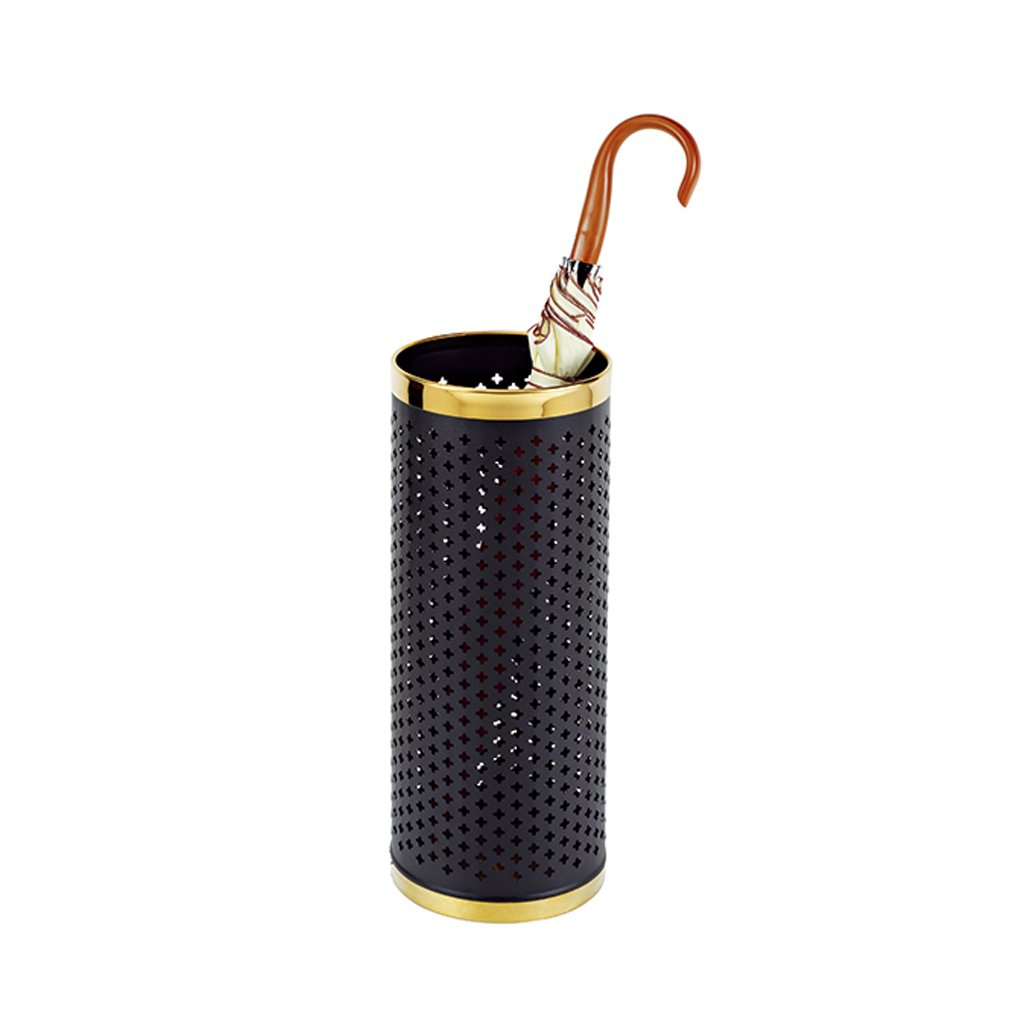 Black Round Stainless Steel Umbrella Stand Long Handle Umbrella Barrels Household Folding Storage Barrelsstorage Barrels ( Color : Gold circle )