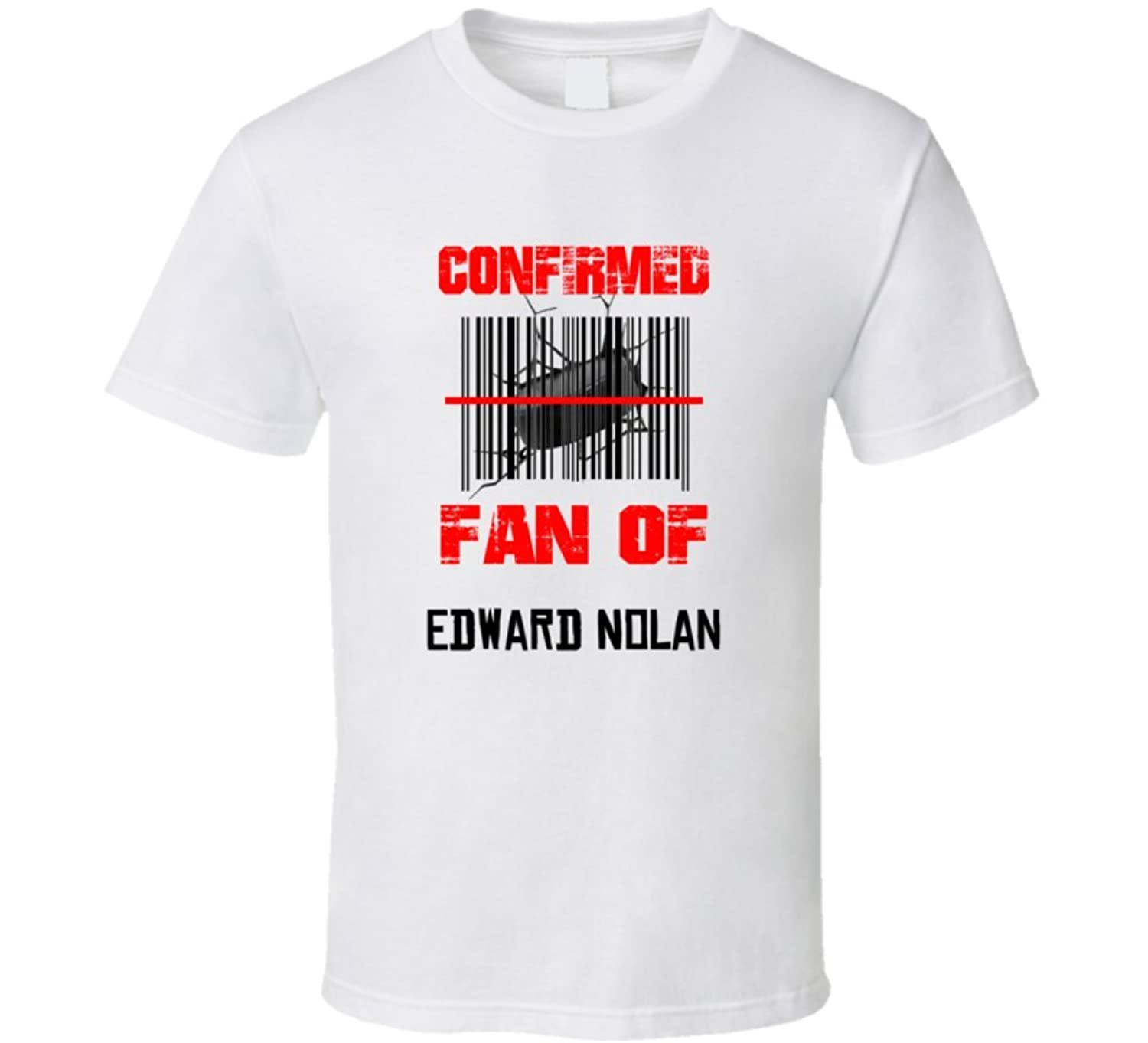 Edward Nolan NHL Scanned Barcode Fan T shirt 2XL White