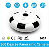 Lznlink Digital Security Camera 360 Degree Panoramic 960P Fish Eye Lens Wireless IP Camera with Night Vision Two Way Voice Wifi Camera V380S Home Security System