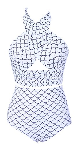 Taiycyxgan Women's High Waisted Cross Bikini Set Vintage Retro Swimsuit [Misc.]
