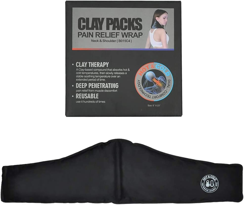 Neck Shoulder Clay Hot Cold Pack Wrap for Headache
