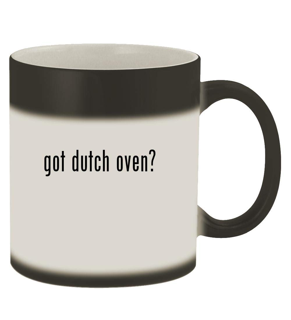 got dutch oven? - 11oz Magic Color Changing Mug, Matte Black