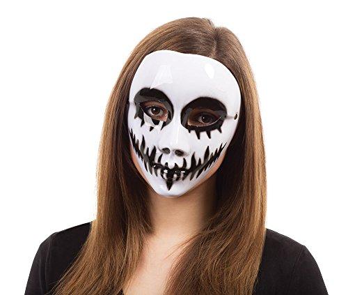 Ladies White Venom Halloween Fancy Dress Mask Glasses Frame