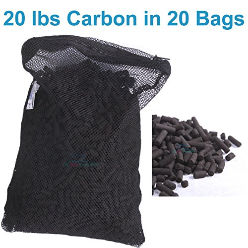 20 lbs Activated Carbon in 20 Media Bags Zipper-design fo...