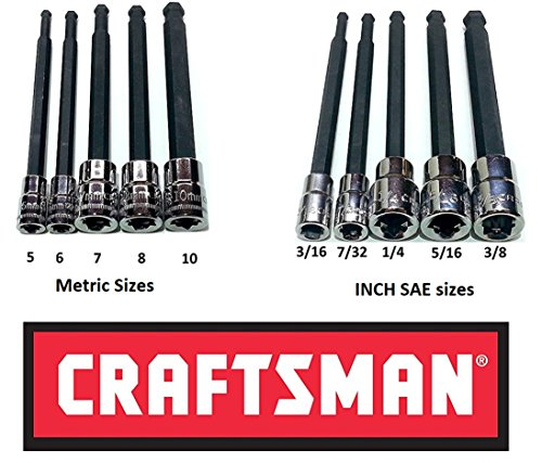 - Craftsman 10 Pc 1/4 & 3/8