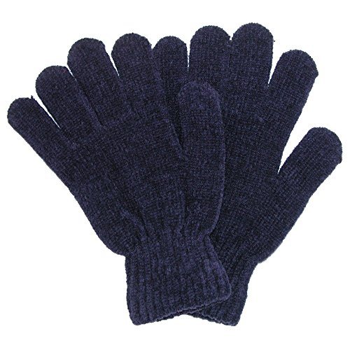 Grand Sierra Women's Ribbed Chenille Stretch Glove, Blue ()