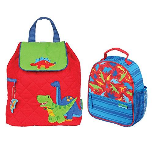Stephen Joseph Boys Quilted Dinosaur Backpack and Dinosaur P