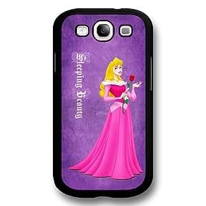 Classic Disney Cartoon Sleeping Beauty Aurora Hard Plastic Phone Case Cover for Samsung Galaxy S3(i9300) - Black