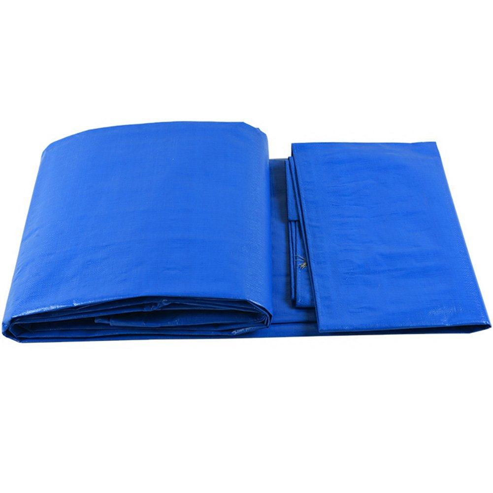ZHANWEI ターポリンタープ Tarp テント タープ 厚い防水布オーニング 雨篷 厚い プラスチック オーニング 耐寒性 日焼け止め シェード リノリウム ポリエチレン トラック 車、 青と白 (色 : Blue, サイズ さいず : 8x10M) B07FYJCKBN  Blue 8x10M