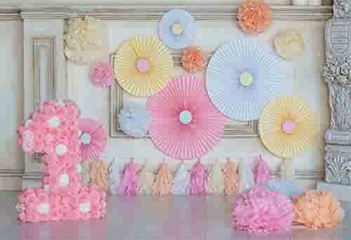 Zhy Angel Wings Backdrop 7X5FT Tassel Blue Fantasy Starry Princess Girl Birthday Theme Party Baby Shower Photography Background YouTube Photo Studio Prop Wallpaper LLST130