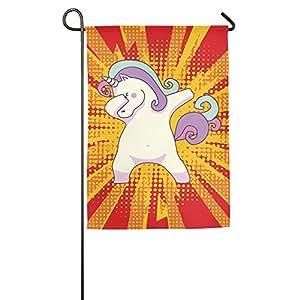 Cartoon Hip Hop unicornio jardín bandera banderas decorativa para interior y exteriores para desfile deportivo juego fiesta familiar pared pancarta,