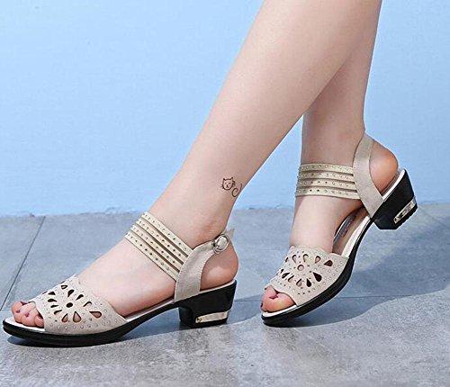 KUKI Frau Square Heel Sandalen Kaufen Online-Shop