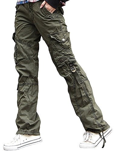 Jeans Cargo Womens - Newfacelook Womens Ladies Combat Cargo Cotton Military Trousers Pants Jeans