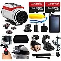 TomTom Bandit 4K HD Action Camera + 48GB Essetial Accessories Bundle includes Solar Charger + Stabilizer + Head Strap + Car Mount + Selfie Stick + Travel Case + Car Charger + More!