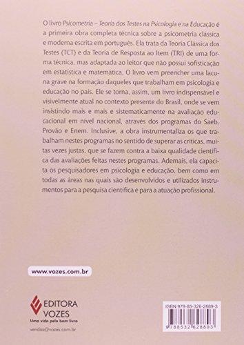 Psicometria. Teoria dos Testes na Psicologia e na Educação