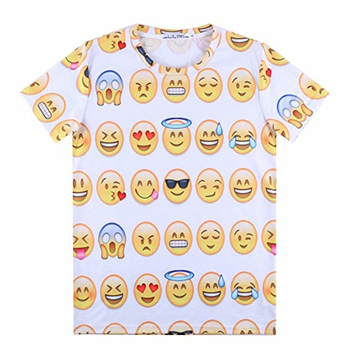 Emoji T-shirt Female Short Sleeves