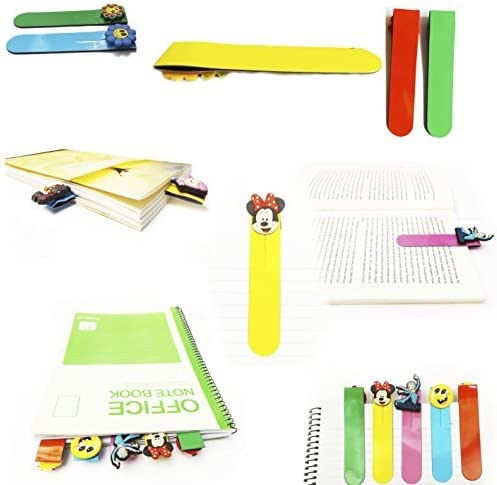 AVIRGO Magnetic Bookmarks Page Markers Colorful 6 pcs Set # 67-16