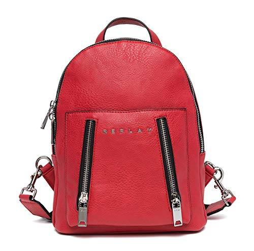 Replay Women's Backpack With Double Zip Red ()