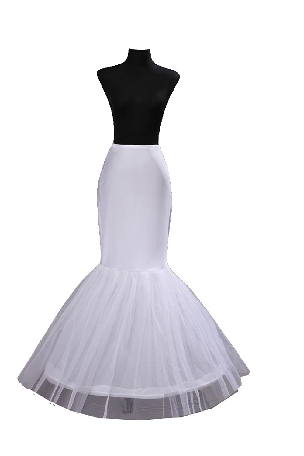 Bridal Mermaid Adjustable Crinoline Petticoat Slips Underskirt At Amazon Womens Clothing Store