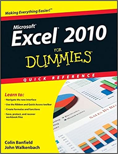 Amazon.com: Excel 2010 For Dummies Quick Reference (9780470527559 ...