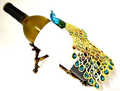 (Ciel Collectables Peacock Design Wine Bottle Holder)
