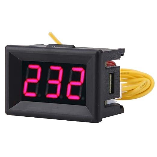 Medidor De Voltaje, 1Pc 2 Cables Pantalla Digital Led De 0.36 Pulgadas Voltímetro De Ca 70-380 V Para Ca 220 V Prueba De Electricidad De Red/Monitoreo De Voltaje Del Generador De 220 V E Inversor