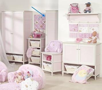 roba Kleiderschrank Baby born Kinderzimmer Schrank in rosa ...