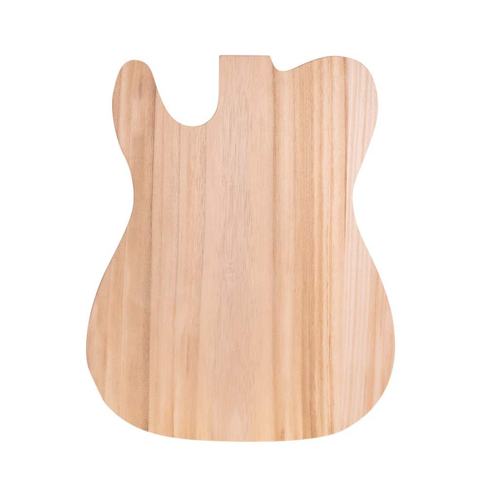 Lepeuxi Muslady TL-T02 Cuerpo de Guitarra El/éctrica Sin Terminar Sycamore Madera Barril de Guitarra En Blanco para TELE Estilo Guitarras El/éctricas Piezas de bricolaje