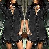 Hot!! Womens Button Down Dresses GateLie Ladies