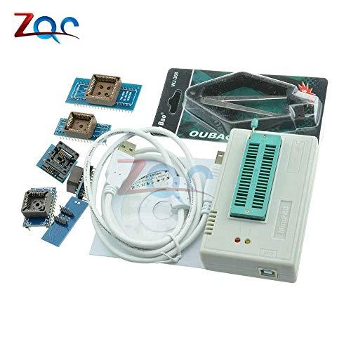 (1Set 13000 ICS TL866CS Programmer USB 2.0 EPROM Flash BIOS 6 Adapter PLCC IC Universal Programmers TL866A High Speed Original)