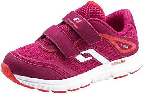Run – Zapatillas oz Pro 4 Velcro Jr – Rosa/Azul Marino/Blanco, niño, Red/Red Light, 28 EU