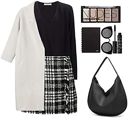 Sun Kea Womens Simple Design Tote Handbag Convertible Large Tassel Shoulder Bag Casual Crossbody Purse