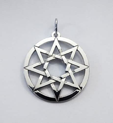 Amazon.com: 8 Pointed Star Octagram Silver Pendant Star in