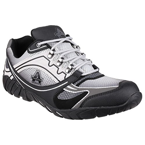 Amblers - Zapatillas de trabajo/Seguridad laboral modelo 702 Granito para hombre Gris