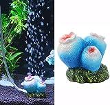 OWIKAR Aquarium Decor Air Bubble Stone Oxygen Pump Resin Crafts For Aquarium Fish Tank Ornament Decoration Small Sizes (Coral)