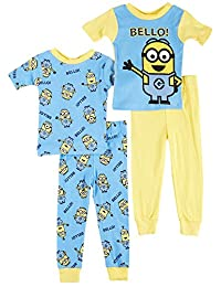 Despicable Me 2 Minion Bello! 4 Piece Toddler Cotton Pajamas for Little Boys
