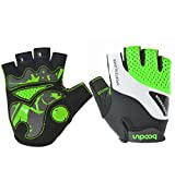 #8: JustFit 2018 New Fashion Man and Woman Cycling Gloves Half Finger, Shock-absorbing Anti-slip Gel Padded Lightweight and Breathable, Comfort Moisture Permeability and Moisture Conductivity