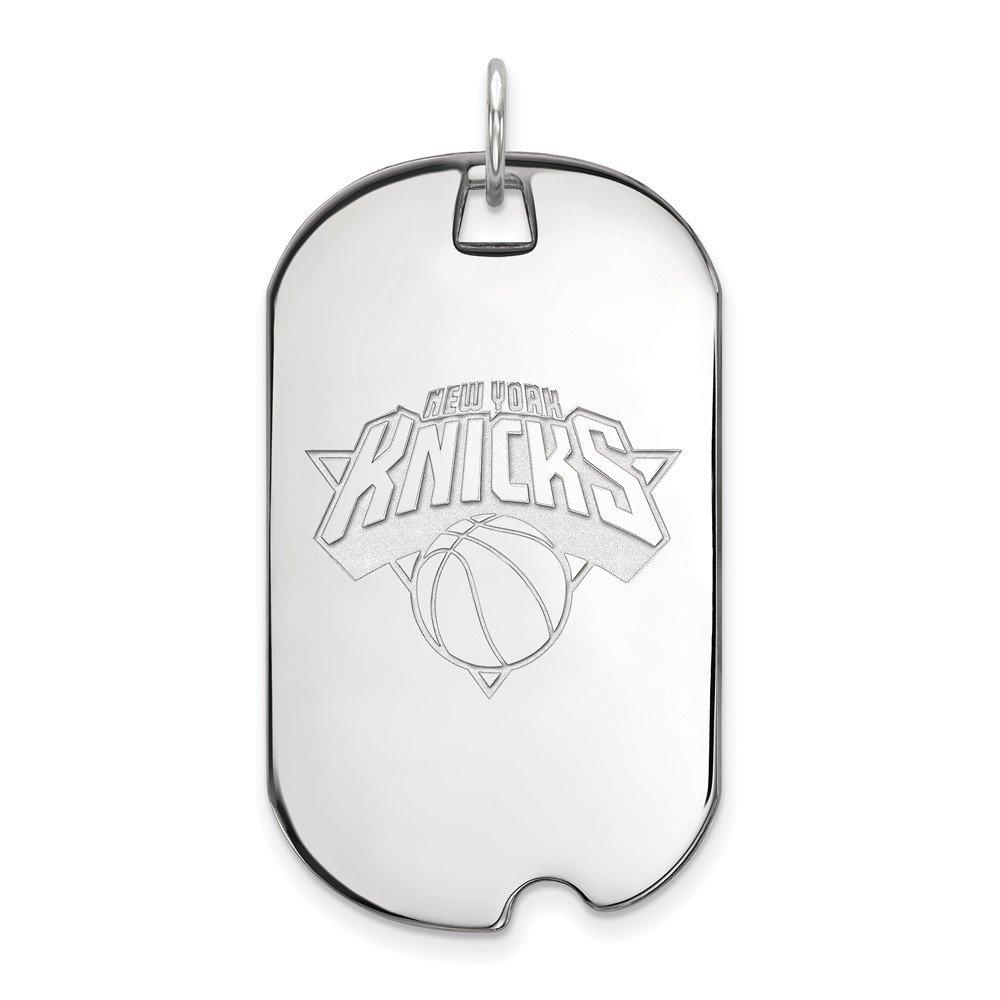NBA ニューヨークニックス 大型ドッグタグペンダント 10Kホワイトゴールド   B01LZQ1Q6U