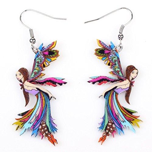 Cute Fairy Acrylic Drop Earrings-1 Pair Multicolor