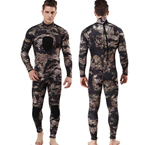 MYLEDI Neoprene 3mm Scuba Diving Suit One Piece Mens Spearfishing Full Body Spearfishing Wetsuit (MY045, XXL)
