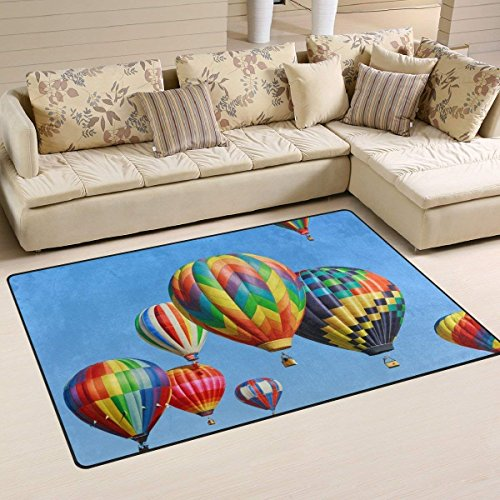 alloons against Blue Sky Heavy Duty Front Door Mat Outdoor Indoor Entrance Doormat Design Entrance Rug for Home Front Entry Garage Outside Patio Inside 23.6x15.7 inch ()