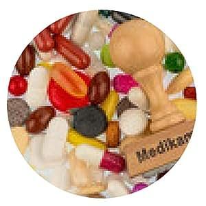 alfombrilla de ratón Sello en tabletas de colores - ronda - 20cm
