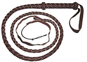 6 Foot 4 Plait DARK BROWN BULL WHIP Real Leather BULL WHIP
