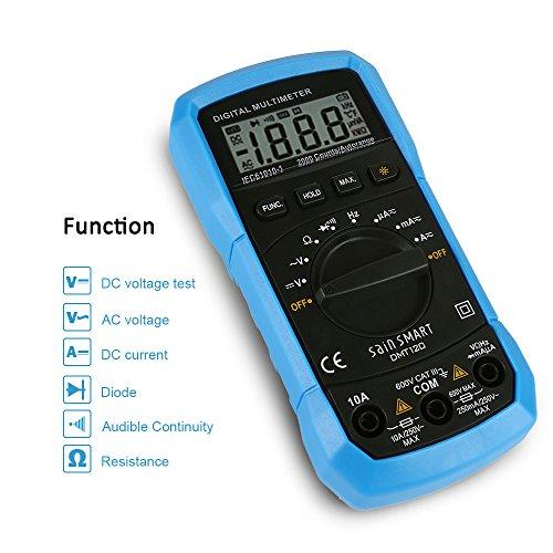 SainSmart DMT120 Multimeter Amperemeter Continuity